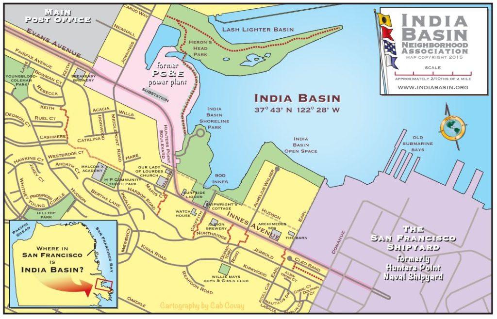 India Basin - map
