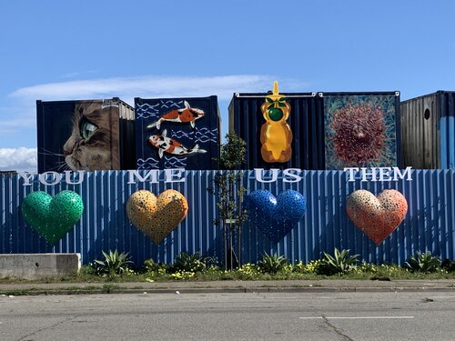 Photo of Box Shop mural on Hunters Point Boulevard